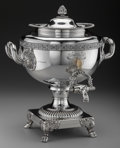 Silver Holloware, British:Holloware, A Smith, Tate & Co. Silver British Naval Presentation Hot WaterUrn, Sheffield, England, circa 1819. Marks: (lion passant), ...