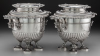 A Pair of Paul Storr George III Silver Wine Coolers, London, England, circa 1808 Marks: (lion passant), (duty mark