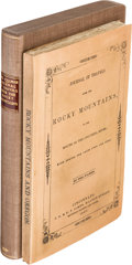 Books:Americana & American History, Joel Palmer. Journal of Travels Over the Rocky Mountains, to theMouth of the Columbia River; Made During the Year 1845 ...