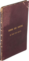 Books:Americana & American History, F. A. Isabell. 1852-1870. Mining and Hunting in the FarWest. Middletown (CT): J. S. Stewart, Printer and Bookbi...