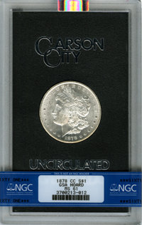 1878-CC $1 GSA MS61 NGC. Ex: The Lenny Reiner Collection Part II. NGC Census: (924/14780). PCGS Population (865/22330)...