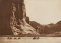 Photographs:Photogravure, Edward Sheriff Curtis (American, 1868-1952). Cañon de Chelly -Navaho, 1904. Photogravure, a vintage proof printed by Jo...