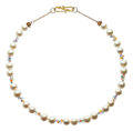 Estate Jewelry:Pearls, Cultured Pearl, Sapphire, Gold Necklace, Patricia Makena. ...