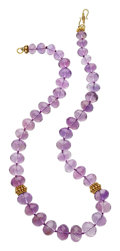 Estate Jewelry:Necklaces, Amethyst, Gold Necklace, Patricia Makena. ...