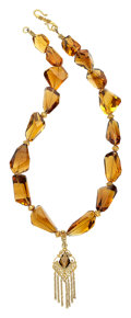 Estate Jewelry:Necklaces, Citrine, Gold Necklace, Patricia Makena. ...
