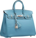 Luxury Accessories:Bags, Hermes 25cm Blue Jean Epsom Leather Birkin Bag with Palladium Hardware. J Square, 2006. Very Good to Excellent Conditi...