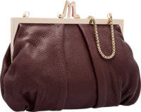 """Christian Louboutin Burgundy Red Leather Loubi Lula Evening Bag Excellent Condition 10"""" Width x 7"""