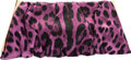 "Luxury Accessories:Bags, Dolce & Gabbana Viola Purple Leopard Satin Miss Lady ClutchBag. Excellent Condition. 13"" Width x 5.5"" Height x 1""Depth..."