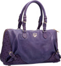 "Luxury Accessories:Bags, MCM Purple Leather Bowler Bag. Excellent Condition. 14.5"" Widthx 9"" Height x 6.5"" Depth. ..."
