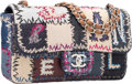 Luxury Accessories:Bags, Chanel Limited Edition Multicolor Leather, Denim & CanvasPatchwork Medium Single Flap Bag with Silver Hardware.Excellent...