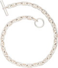 "Luxury Accessories:Accessories, Hermes Sterling Silver Chaine d'Ancre Necklace. Very Good toExcellent Condition. .5"" Width x 16"" Length. ..."