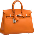 "Luxury Accessories:Bags, Hermes 25cm Orange H Epsom Leather Birkin Bag with PalladiumHardware. K Square, 2007. Excellent Condition.9.5"" W..."