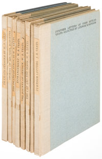William Butler Yeats. Group of Eight Limited Edition Titles. Dublin, Ireland: Cuala Press, 1920 -1935. Holland-backed