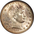 Barber Quarters, 1911-S 25C MS66 NGC....