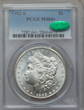 Morgan Dollars: , 1902-S $1 MS64+ PCGS. CAC. PCGS Population (1472/380 and 54/14+). NGC Census: (821/116 and 10/1+). Mintage: 1,530,000. Numi...