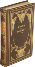 Books:Fine Bindings & Library Sets, [Fine Bindings]. Percy Bysshe Shelley. Poems of Shelley.London: Macmillan, 1908. Small octavo. Bound by Henry Young...