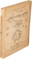 Books:Science Fiction & Fantasy, [Edwin Abbot]. Flatland. A Romance of ManyDimensions. London: 1884. First edition....