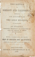 Books:Americana & American History, S. Augustus Mitchell. Description of Oregon and California,Embracing an Account of the Gold Regions. Philadelphia: ...