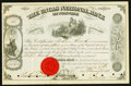 Miscellaneous:Other, Norwich, CT- Uncas National Bank Common Stock Certificate 1881. ...