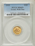 Commemorative Gold, 1922 G$1 Grant Gold Dollar, With Star, MS65+ PCGS. PCGS Population(543/876). NGC Census: (330/446). Mintage: 5,016. Numism...