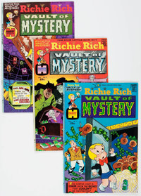 Richie Rich Vault of Mystery File Copies Box Lot (Harvey, 1974-82) Condition: Average NM-