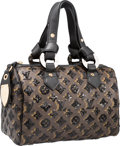 "Luxury Accessories:Bags, Louis Vuitton Brown Coated Canvas & Sequin Monogram EclipseSpeedy Bag. Pristine Condition. 11"" Width x 7"" Height x6""..."