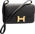 "Luxury Accessories:Bags, Hermes Black Epsom Leather Constance Elan Bag with Gold Hardware.R Square, 2014. Pristine Condition. 10"" Width x 6"" Heigh..."