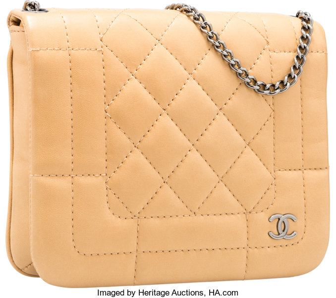 dafa478ff36225 Good; Luxury Accessories:Bags, Chanel Beige Quilted Lambskin Leather  Shoulder Bag with SilverHardware.