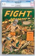Golden Age (1938-1955):Science Fiction, Fight Comics #11 (Fiction House, 1941) CGC FN- 5.5 Cream tooff-white pages....