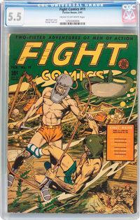 Fight Comics #11 (Fiction House, 1941) CGC FN- 5.5 Cream to off-white pages
