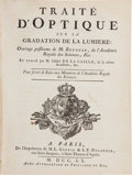 Books:Science & Technology, [Pierre] Bouguer. Traité d'Optique sur la Gradation de laLumiere... Paris: 1760. First edition. Very good.. ...