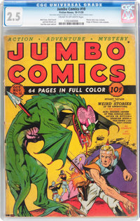 Jumbo Comics #10 (Fiction House, 1939) CGC GD+ 2.5 Cream to off-white pages
