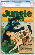 Golden Age (1938-1955):Adventure, Jungle Comics #30 (Fiction House, 1942) CGC FN- 5.5 Slightly brittle pages....