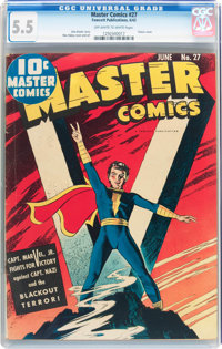 Master Comics #27 (Fawcett Publications, 1942) CGC FN- 5.5 Other pages