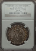 Netherlands East Indies, Netherlands East Indies: West Friesland Gulden 1787-VOC AU58NGC,...