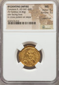 Ancients:Byzantine, Ancients: Constans II (AD 641-668). AV solidus (4.46 gm)....