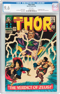Thor #129 (Marvel, 1966) CGC NM+ 9.6 White pages