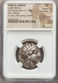 Ancients:Greek, Ancients: ATTICA. Athens. Ca. 454-404 BC. AR tetradrachm (17.10gm)....