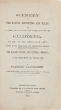 Books:Americana & American History, Franklin Langworthy. Scenery of the Plains, Mountains and Mines:or, A Diary Kept Upon the Overland Route to California,...
