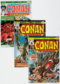 Bronze Age (1970-1979):Adventure, Conan the Barbarian Group of 57 (Marvel, 1974-81) Condition: Average NM.... (Total: 57 Comic Books)