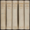 Books:Fine Bindings & Library Sets, Michel de Montaigne. Essays of Montaigne. London: The Navarre Society, 1923. One of 150 deluxe sets bound in publi... (Total: 5 Items)
