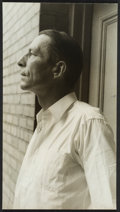 "Photography:Studio Portraits, [Robinson Jeffers]. Carl Van Vechten. Superb Portrait Photograph of Jeffers. Geletin silver print. 9 x 5 inches. NY (""at Ran..."