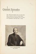 Books:Americana & American History, W. G. Tittsworth. Outskirt Episodes. [Avoca, Iowa: JeanTittsworth (Des Moines: Success Composition & Printing Co.),...