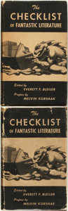 Books:Reference & Bibliography, Everett F. Bleiler (editor). Two First Editions of The Checklistof Fantastic Literature. Chicago: Shasta Publishers... (Total:2 Items)