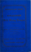 Books:Americana & American History, [Colorado Gold Mines] Prospectus of the Copalinshé Gold Mining Company, of Colorado. New York: Macoy & Herwig, Stationers, 1...