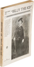 "Books:Americana & American History, Charles A. Siringo. History of ""Billy the Kid"". [Santa Fe:privately published by the author, 1920]...."