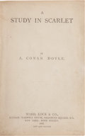 Books:Mystery & Detective Fiction, Arthur Conan Doyle. A Study in Scarlet. London: Ward, Lock& Co., 1888....