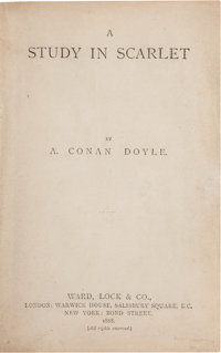 Arthur Conan Doyle. A Study in Scarlet. London: Ward, Lock & Co., 1888