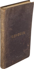 Books:Americana & American History, Thomas P. Janes. Hand-Book of the State of Georgia. Atlanta,Georgia: [Russell Brothers], 1876....