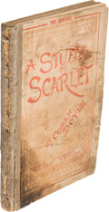 Books:Mystery & Detective Fiction, Arthur Conan Doyle. A Study in Scarlet. London: Ward, Lock & Co., 1888 [March 1889]....